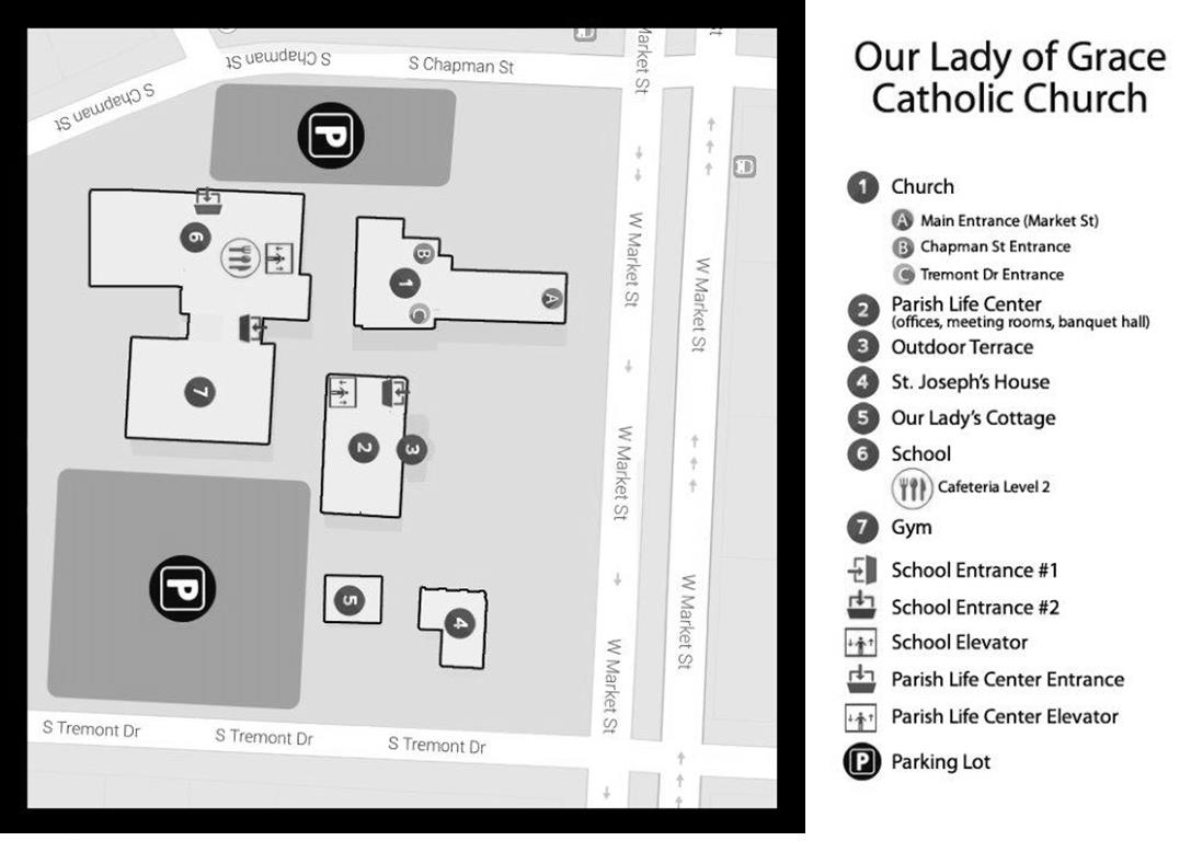 Campus Map Our Lady Of Grace Church